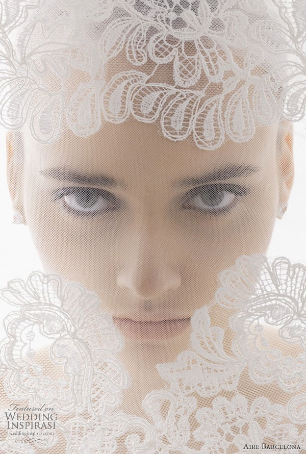 weddingstylist veil aire barcelona veil 2011 bridal2 Πέπλο μυστηρίου