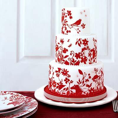 weddingstylisty red weddingcakes Η Γαμήλια τούρτα του χειμώνα