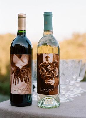weddingstylist botle of wine Στην υγειά σας, με ένα μπουκάλι κρασί