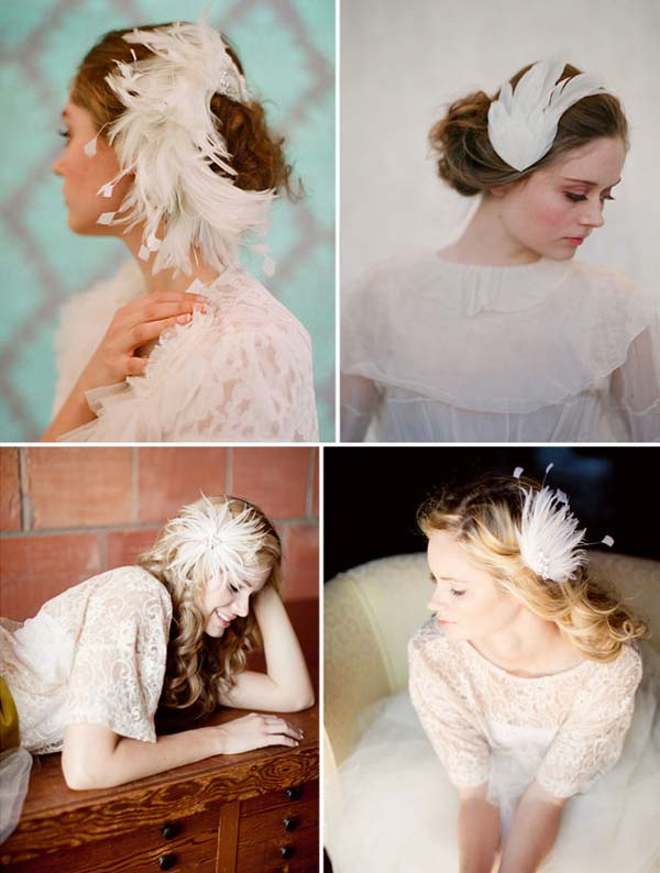 weddingstylist white hairpi Άσπρος κύκνος