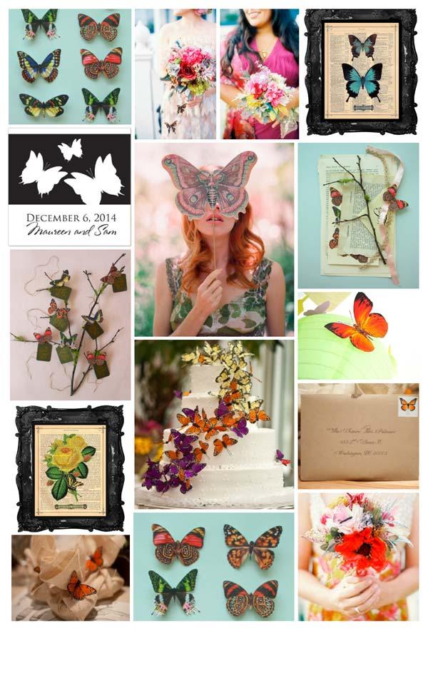 weddingstylist Abutterflies1 Πεταλούδες...θέμα γάμου