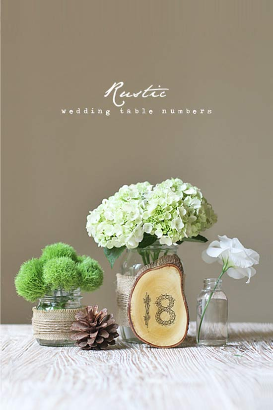 weddingstylist rustic table Τραπέζια με..... νούμερο. D.I.Y