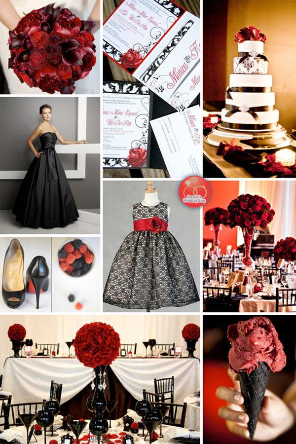 weddingstylist red black Έμπνευση σε κόκκινο και μαύρο