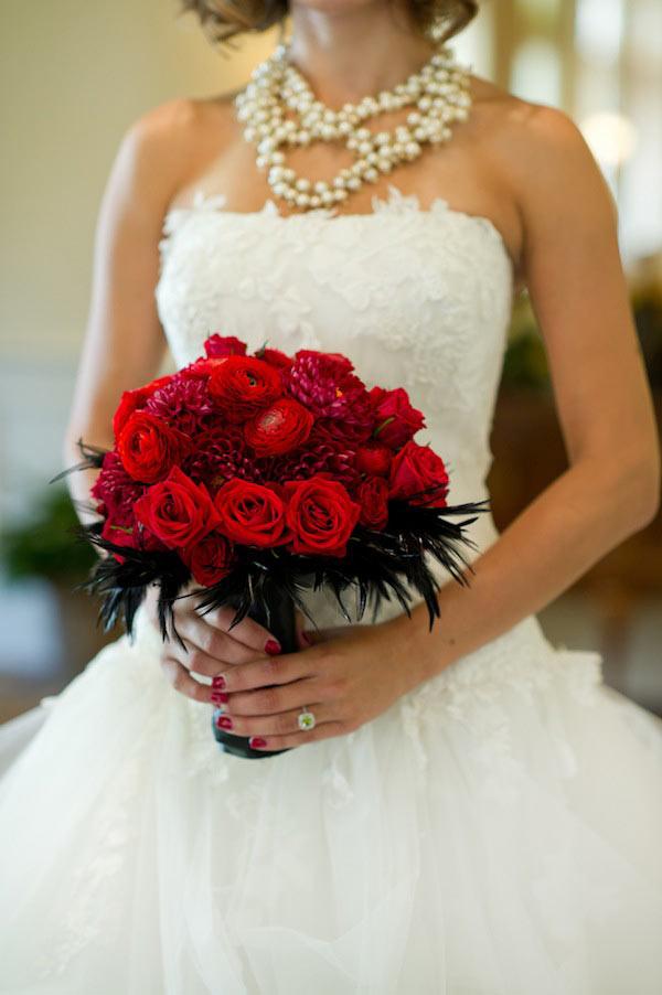 weddingstylist red black2 Έμπνευση σε κόκκινο και μαύρο