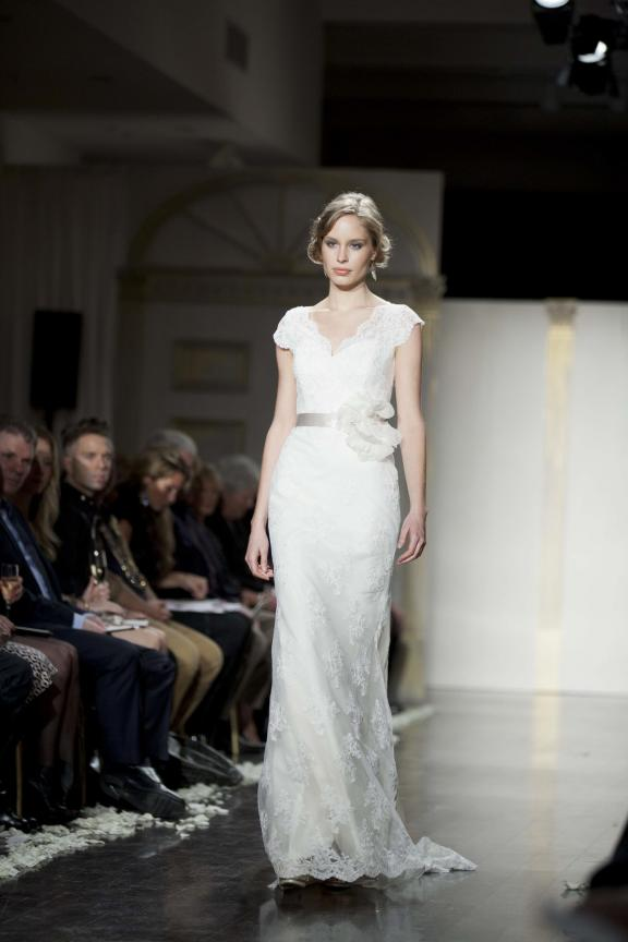 wedding dress lazaro fall 2012 bridal gowns lace sash Άνοιξη 2012  Νυφικά από την Tara Keely