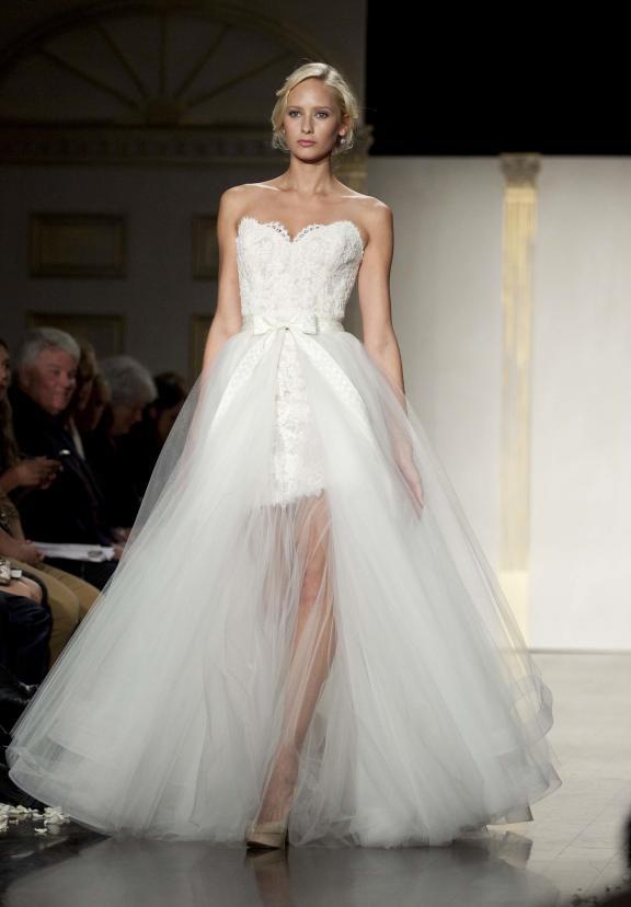 wedding dress lazaro fall 2012 bridal gowns lace sweetheart convertible Άνοιξη 2012  Νυφικά από την Tara Keely
