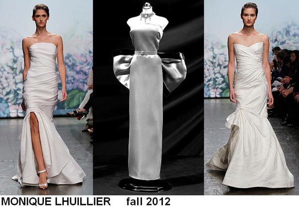 weddingstylist monroe2 Έπνευση Marilyn Monroe από τον MONIQUE LHULLIER/ Fall 2012