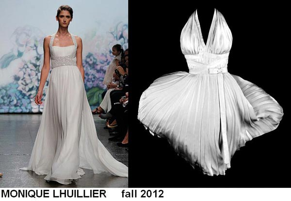 weddingstylist monroe3 Έπνευση Marilyn Monroe από τον MONIQUE LHULLIER/ Fall 2012