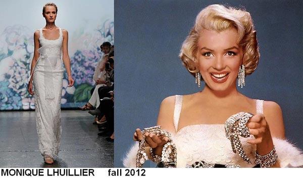 weddingstylist monroe5 Έπνευση Marilyn Monroe από τον MONIQUE LHULLIER/ Fall 2012