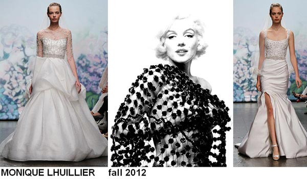 weddingstylist monroe61 Έπνευση Marilyn Monroe από τον MONIQUE LHULLIER/ Fall 2012