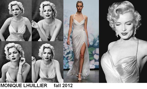 weddingstylist monroe7 Έπνευση Marilyn Monroe από τον MONIQUE LHULLIER/ Fall 2012