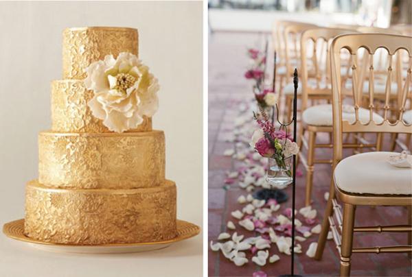 weddingstylist golddec2 Χρυσός γάμος