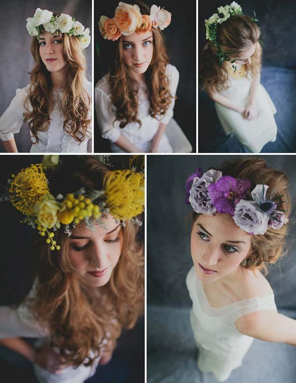 weddingstylist louloudia stefania Στεφανωθείτε...με πανέμορφα λουλούδια στα μαλλιά!