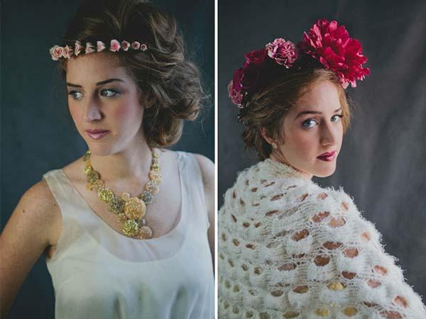 weddingstylist louloudia stefania gamos Στεφανωθείτε...με πανέμορφα λουλούδια στα μαλλιά!