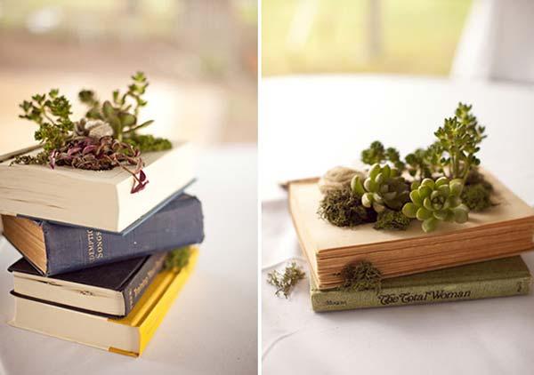 weddingstylist vivlia diy idees Βιβλία που ανθίζουν στον γάμο σας!