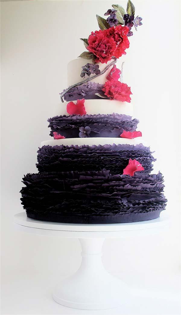 weddingstylist cake gamos ruffles Κυματιστά εφέ για...αέρινες νύφες!