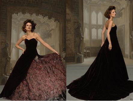 weddingstylist gothic velvet dress Το πιο βαθύ βελούδινο φιλί
