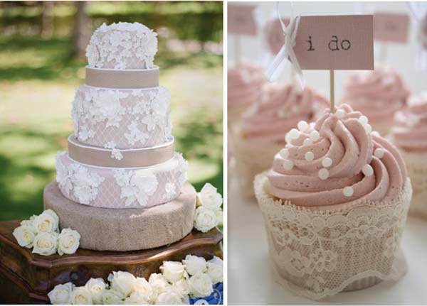 weddingstylist lace cakes Δαντέλα και πέρλα παντού!