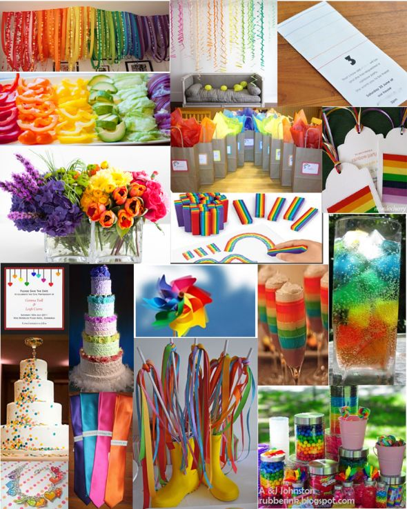 weddingstylist rainbow wedding Η αγάπη είναι χρώμα!