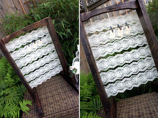 weddingstylist seating chart gamos Ξύλο ντυμένο με δαντέλα για τους καλεσμένους σας!