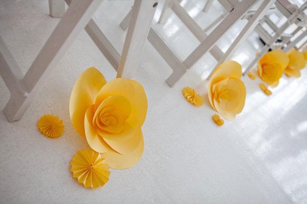 weddingsylist origami1 Origami λουλούδια για έναν μοντέρνο γάμο