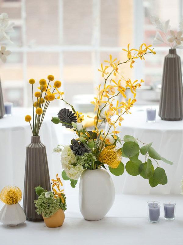weddingsylist origami2 Origami λουλούδια για έναν μοντέρνο γάμο