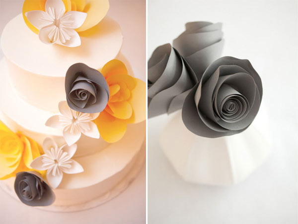 weddingsylist origami4 Origami λουλούδια για έναν μοντέρνο γάμο