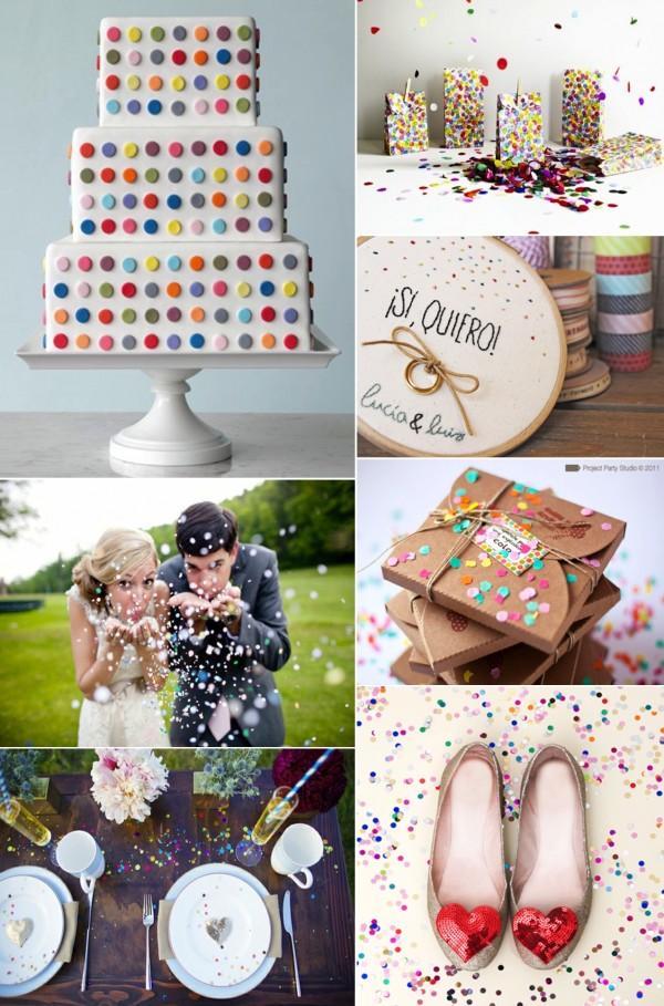 weddingstylist confetti inspirationwedding Γάμος γιορτή με...κονφετί!