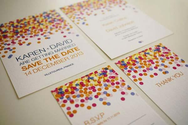 weddingstylist confetti invitations Γάμος γιορτή με...κονφετί!