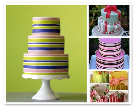 weddingstylist striped weddingcakes Ρίγες παντού!