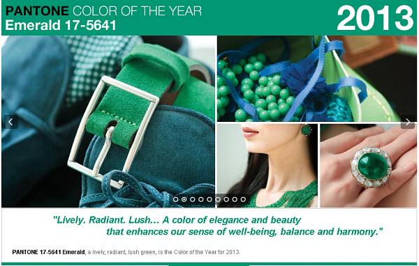 weddingstylist pantone 2013 Pantone: Πράσινη ισορροπία για το 2013