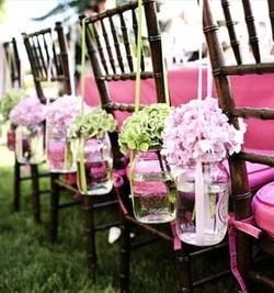 weddingstylist jars chairs Αιωρούμενα βάζα στον γάμο σας!
